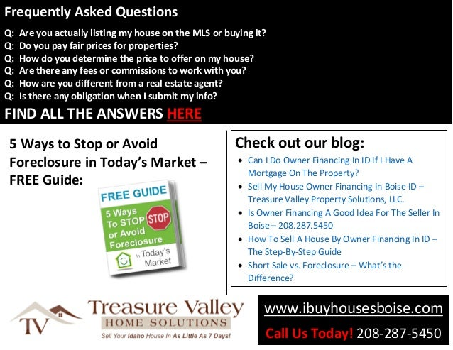 Treasure Valley Property Solutions - Sell House Fast in
