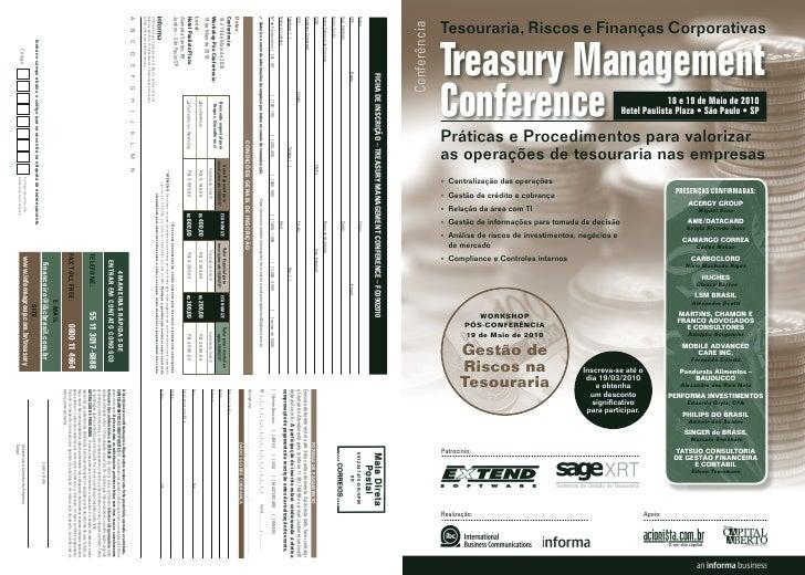 Tesouraria, Riscos e Finanças Corporativas Conferência                 Treasury management               conference       ...