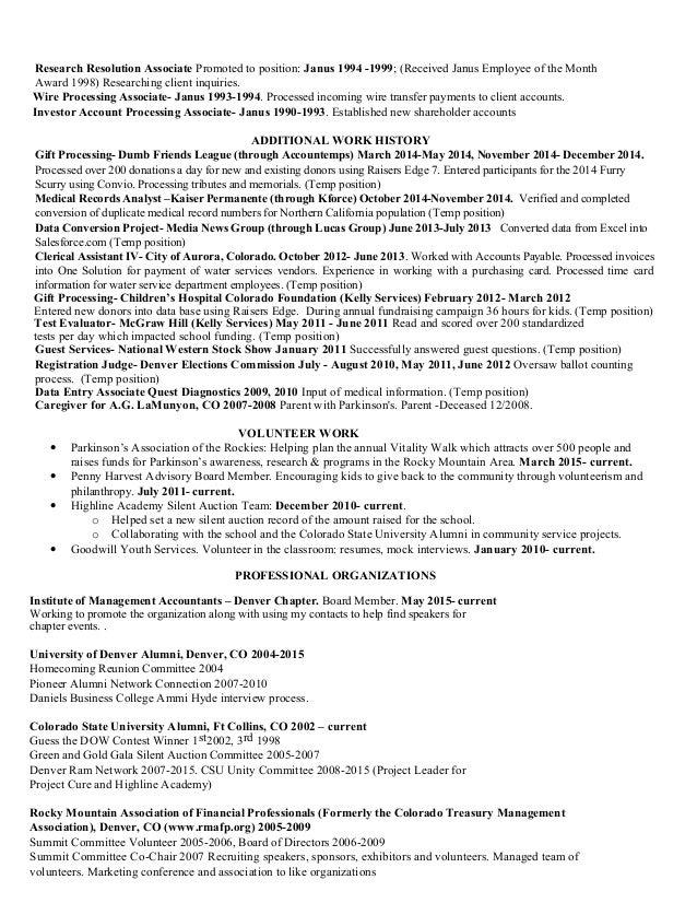 treasury management resume november 2015