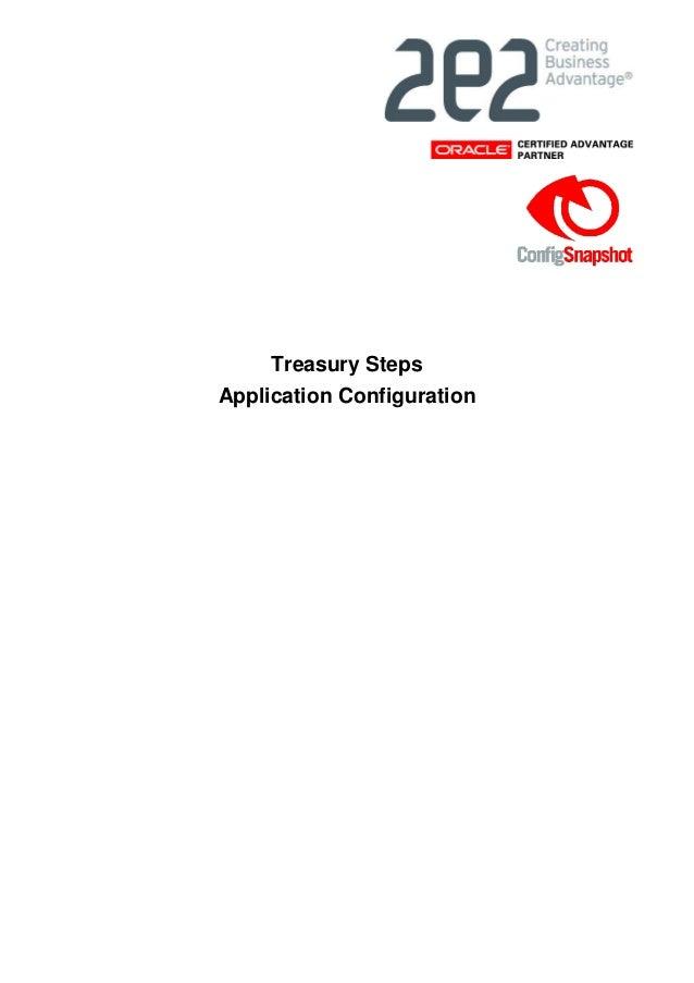 Treasury Steps Application Configuration