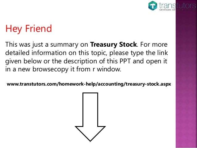 Treasury Stock | Accounting