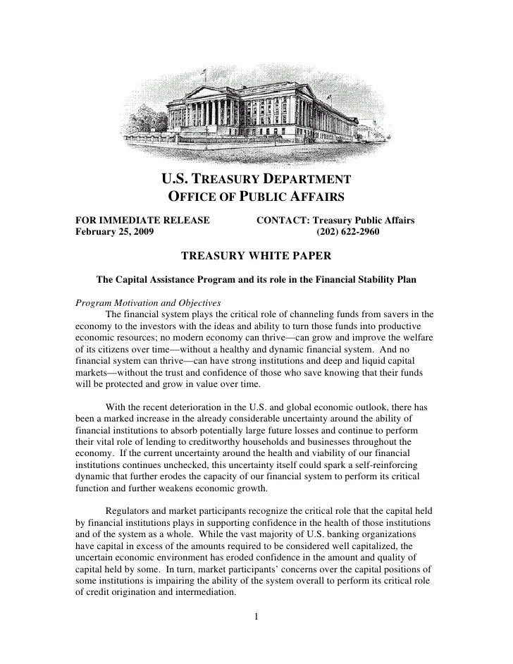 U.S. TREASURY DEPARTMENT                        OFFICE OF PUBLIC AFFAIRS FOR IMMEDIATE RELEASE                          CO...