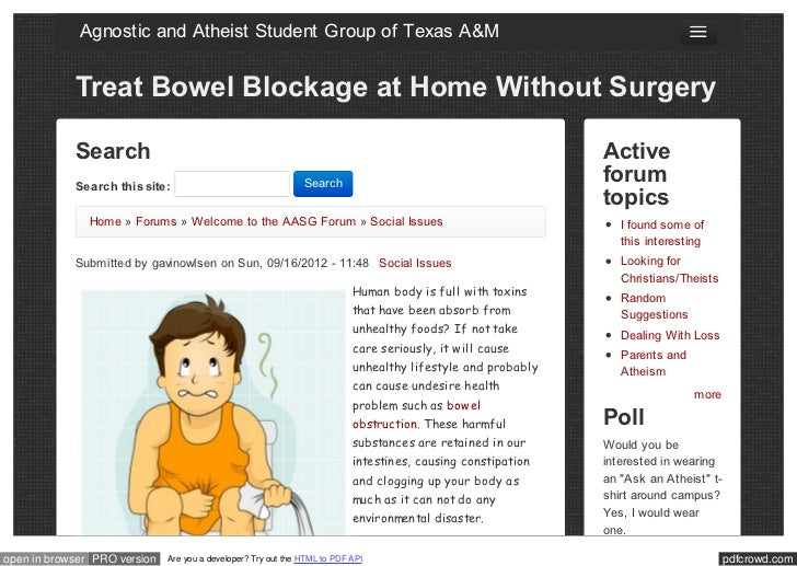 Agnostic and Atheist Student Group of Texas A&M            Treat Bowel Blockage at Home Without Surgery            Search ...