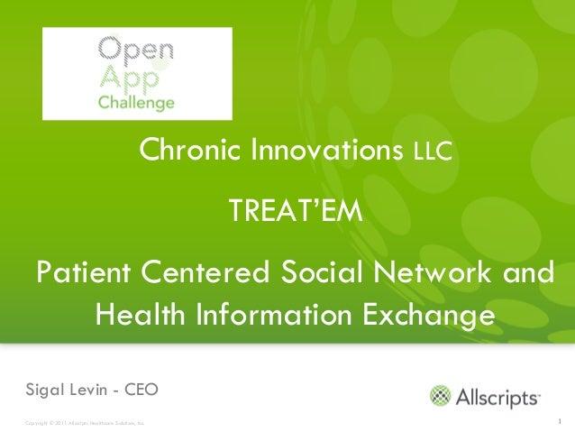 Chronic Innovations LLC                                                         TREAT'EM    Patient Centered Social Networ...