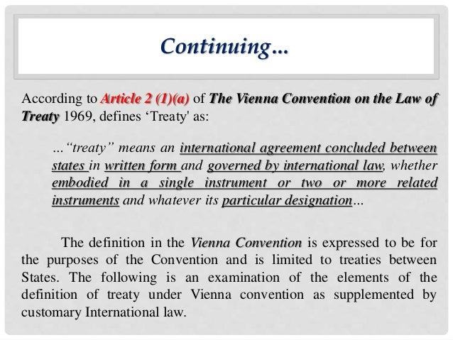 summary of the vienna convention Notes article 36 of the vienna convention on consular relations: private enforcement in american courts after lagrand cara drinan introduction on june 27, 2001, the international court of justice (icj) held in the case.