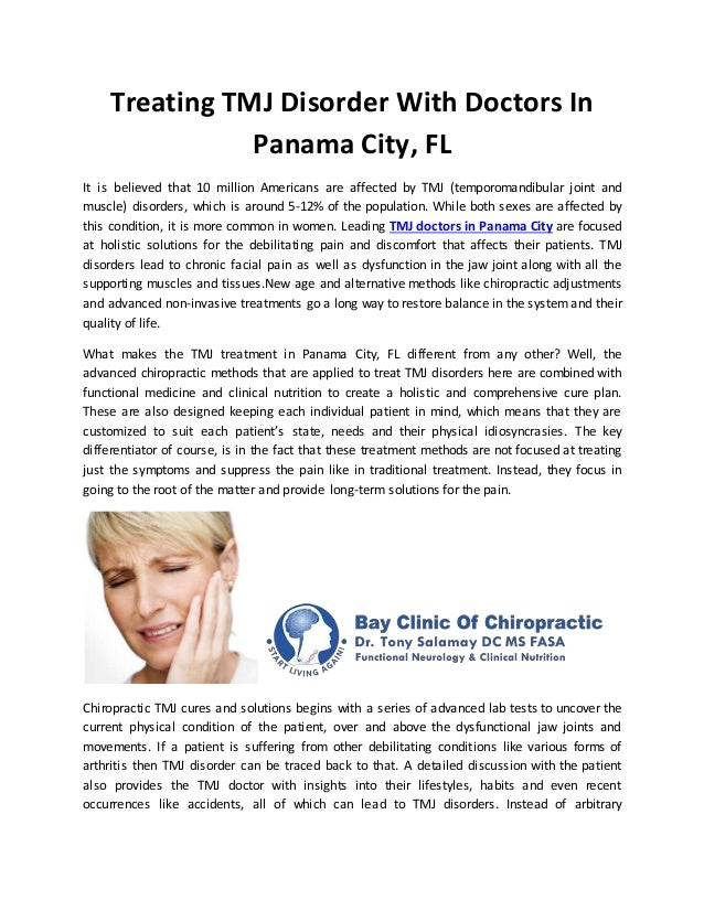 Treating Tmj Disorder With Doctors In Panama City Fl