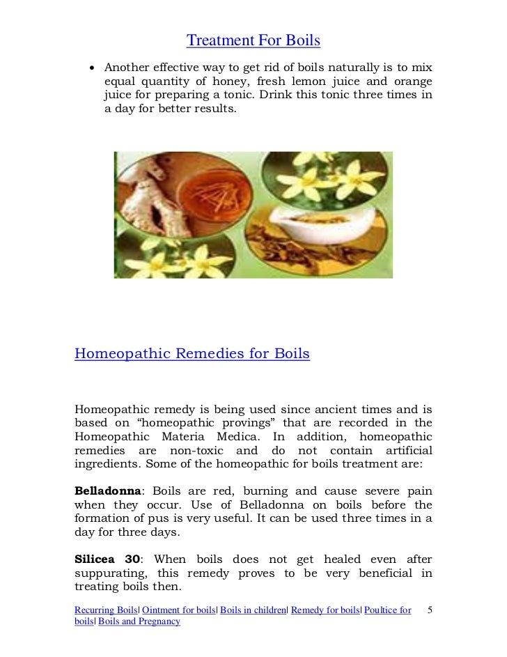 Treatment for boils