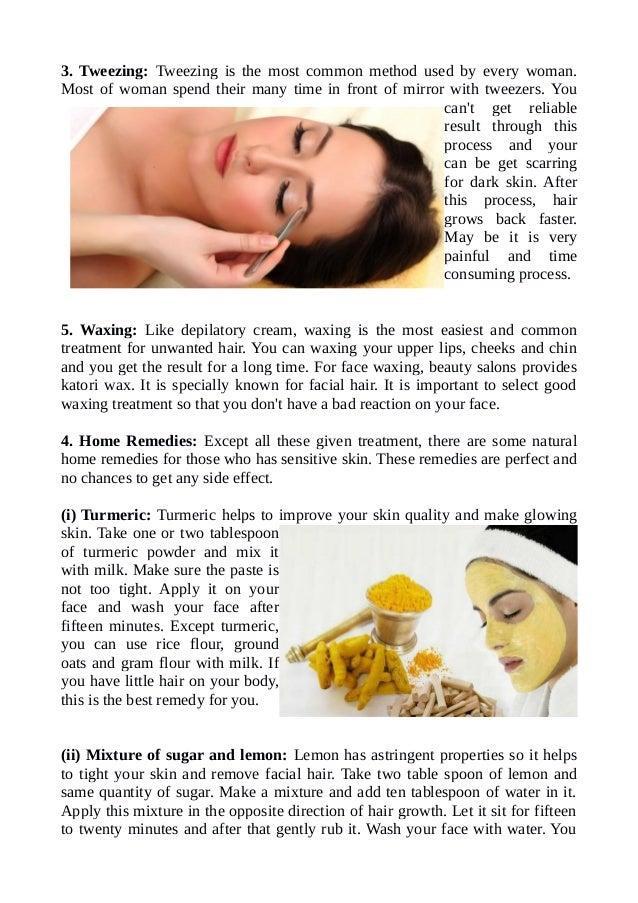 Tumeric powder facial hair remover remedies
