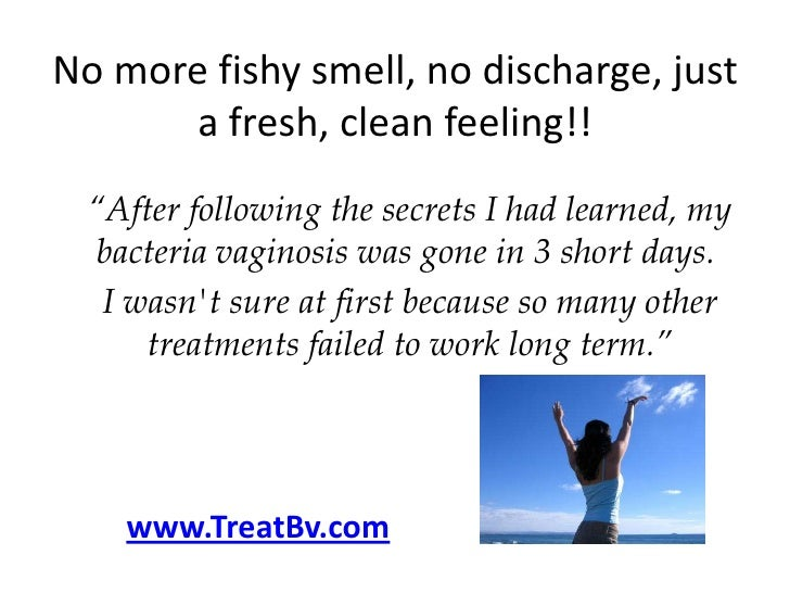 Fishy smell no discharge