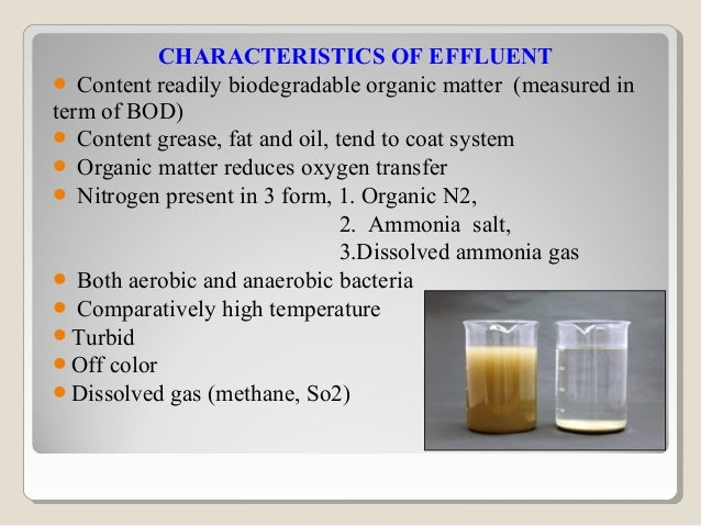 POLLUTION PARAMETERSBiochemical oxygen demand (BOD) - measure of thereadily biodegradable material in an effluent. It is...