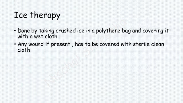 R.I.C.E. Treatment for Acute Musculoskeletal Injury