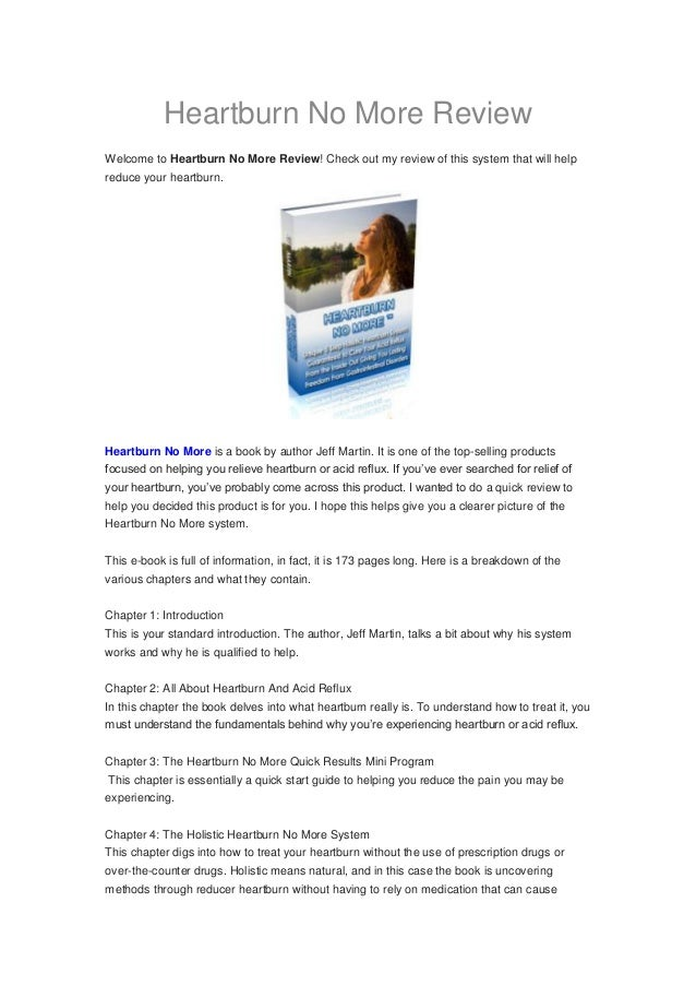 Heartburn No More ReviewWelcome to Heartburn No More Review! Check out my review of this system that will helpreduce your ...