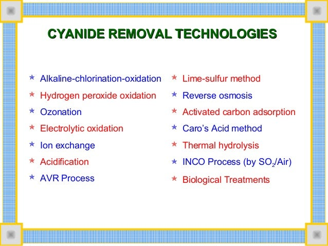 Cyanide Removal Drinking Water