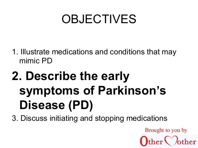 early parkinsons