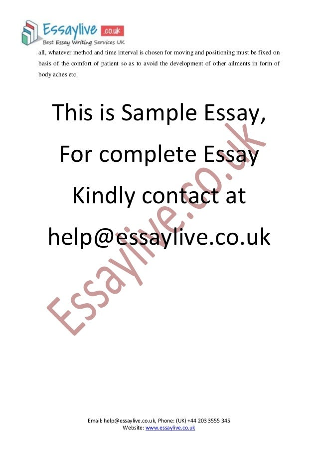pressure ulcers essay There are two main layers which make up the anatomy of the skin, the epidermis and the dermis when pressure is applied to the skin the blood supply is cut off and.