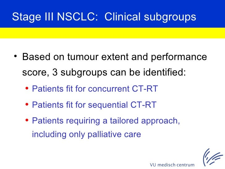 treatment of stage iii nsclc the role of radiation therapy