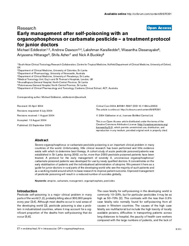 Open Access Available online http://ccforum.com/content/8/6/R391 R391 December 2004 Vol 8 No 6 Research Early management a...