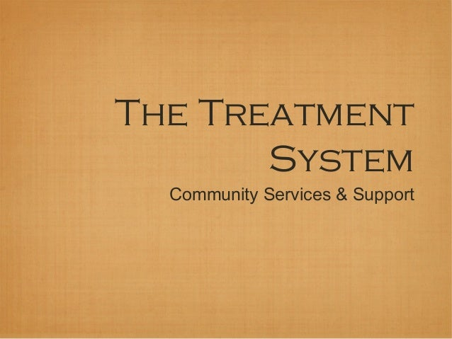 The Treatment       System  Community Services & Support