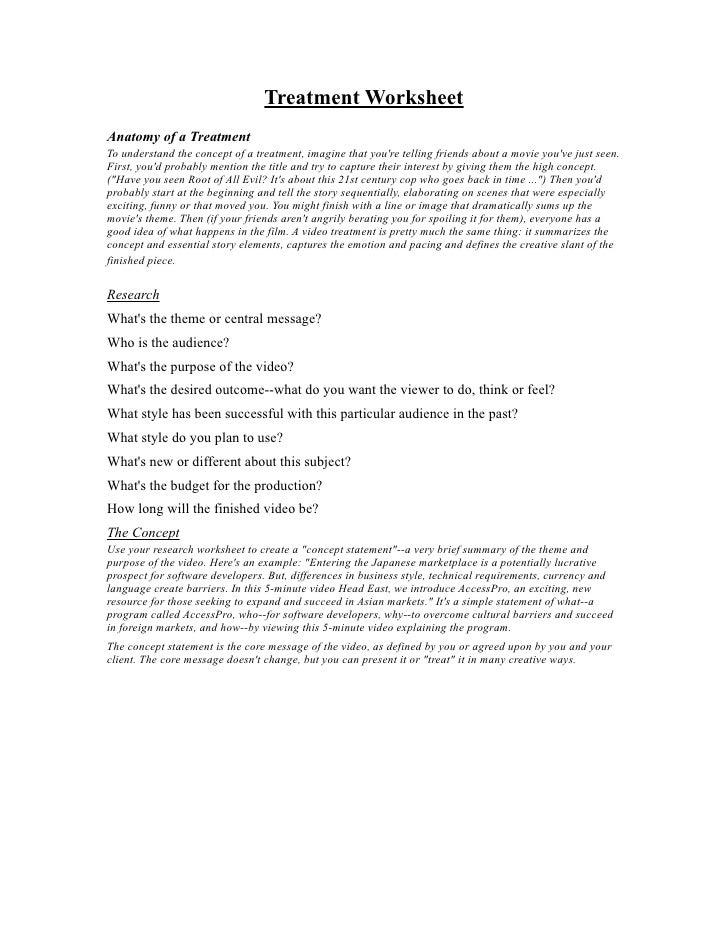 Treatment Worksheet