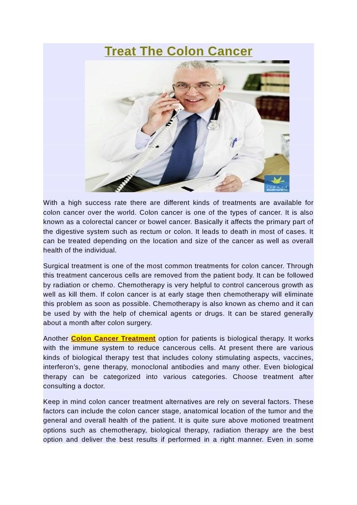 Treat The Colon Cancer