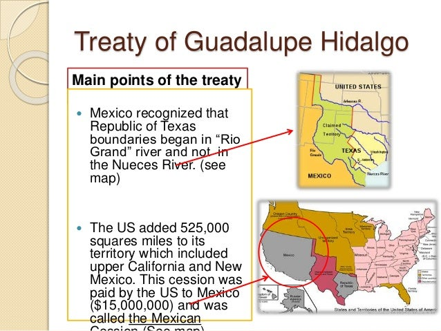 guadalupe hidalgo Washington times february 7, 1998 a defining treaty for nation's destiny john j miller this week marks the 150th anniversary of the largest expansion of us.