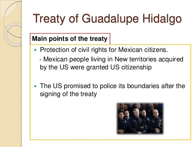 treaty of guadalupe hidalgo Negotiated by nicholas trist, the treaty of guadalupe hidalgo was signed  february 2, 1848, and officially ended the mexican-american war.