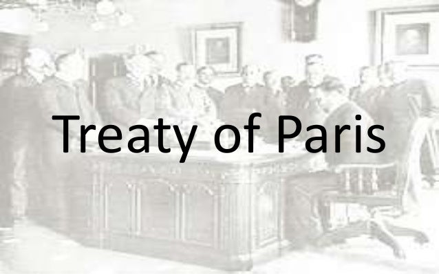 treaty of paris 1898 essay An spanish american war history essay print reference this published: in 1898, the treaty of paris was signed in order to ending the spanish- american war.