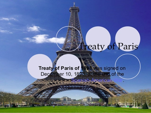 what war did the treaty of paris end