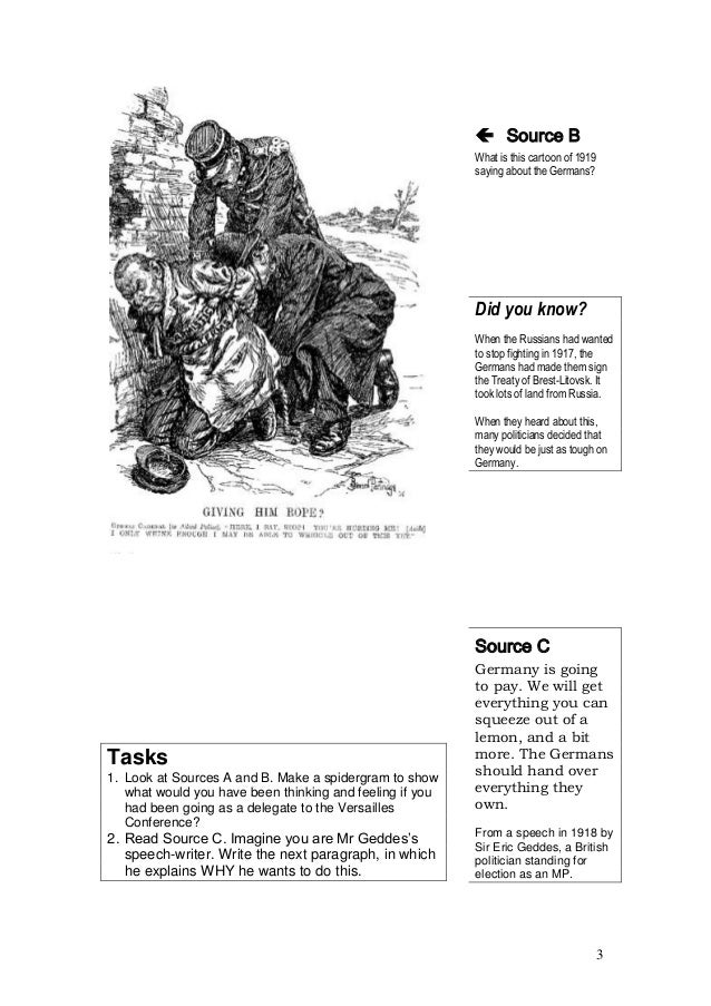 Treaty of versailles student booklet