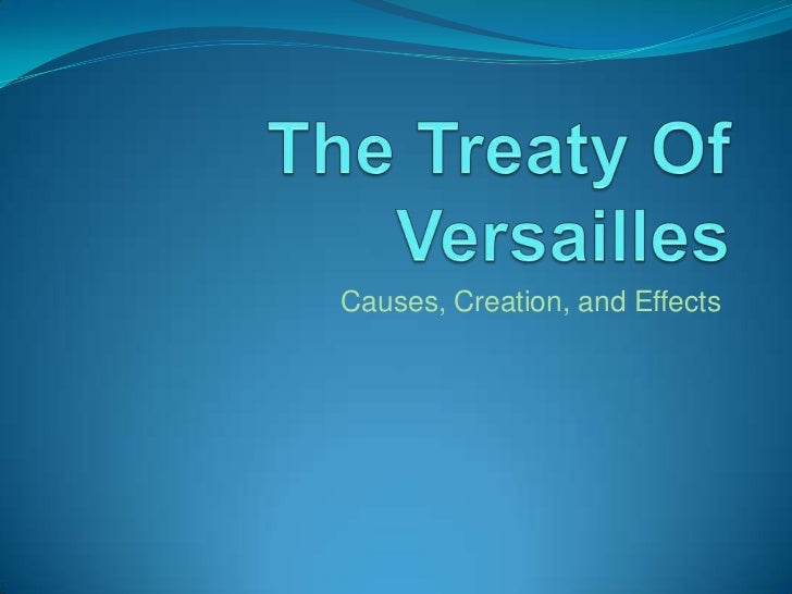 Causes, Creation, and Effects