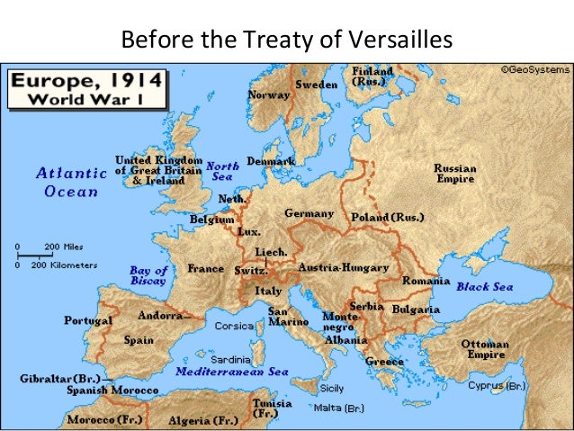 How did the Treaty of Versailles affect Italy?