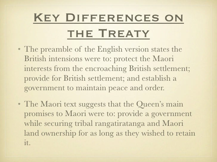 Image Result For Differences In The Treaty Of Waitangi