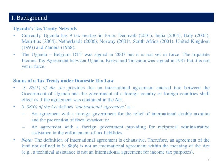 Treaty platforms traps for the unwary 7 8 i background ugandas tax treaty sciox Gallery