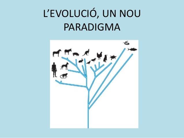 L'EVOLUCIÓ, UN NOU PARADIGMA