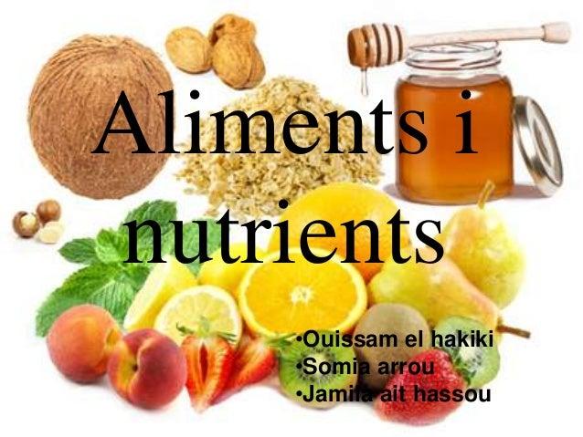Aliments inutrients     •Ouissam el hakiki     •Somia arrou     •Jamila ait hassou