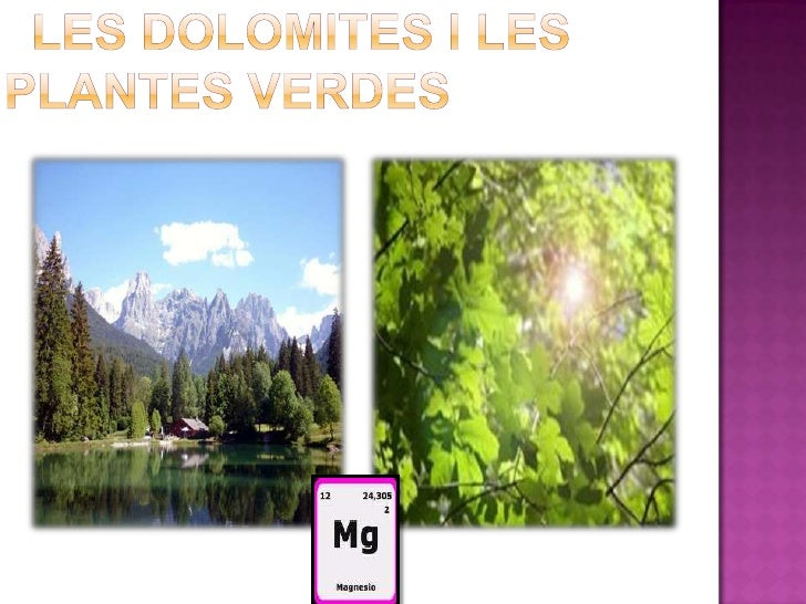 Les dolomites i les plantes verdes<br />