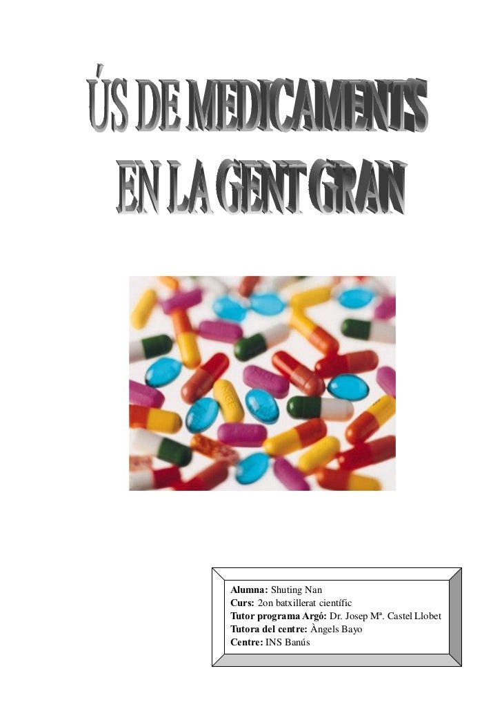 Alumna: Shuting NanCurs: 2on batxillerat científicTutor programa Argó: Dr. Josep Mª. Castel LlobetTutora del centre: Àngel...