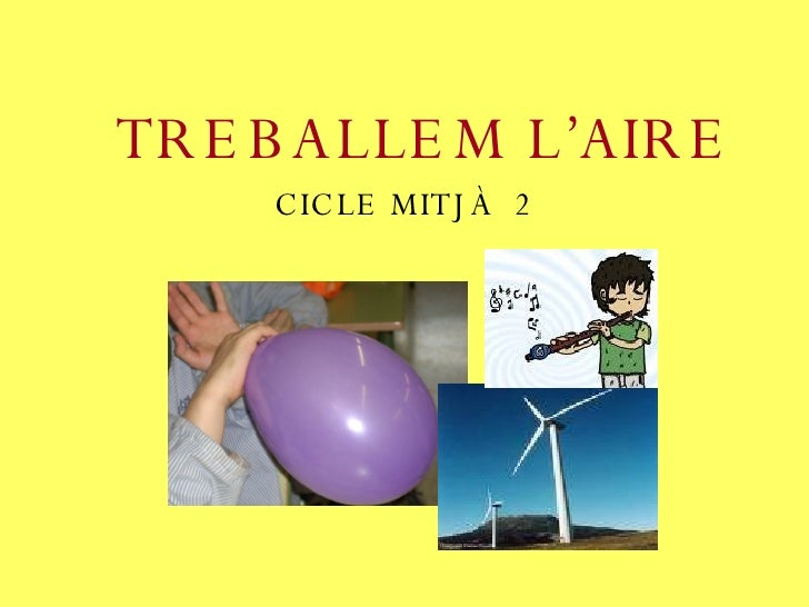 TREBALLEM L'AIRE CICLE MITJÀ  2