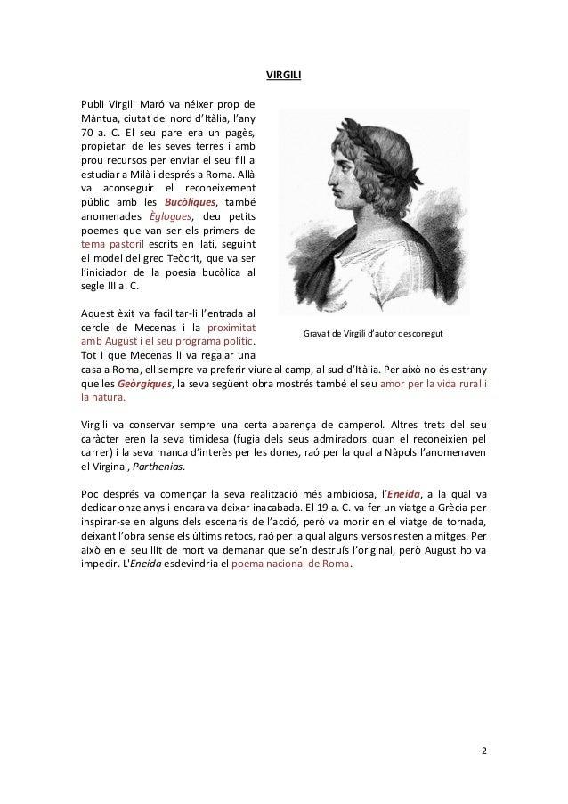 Eneida, Virgili (Llatí 2BAT) Slide 2