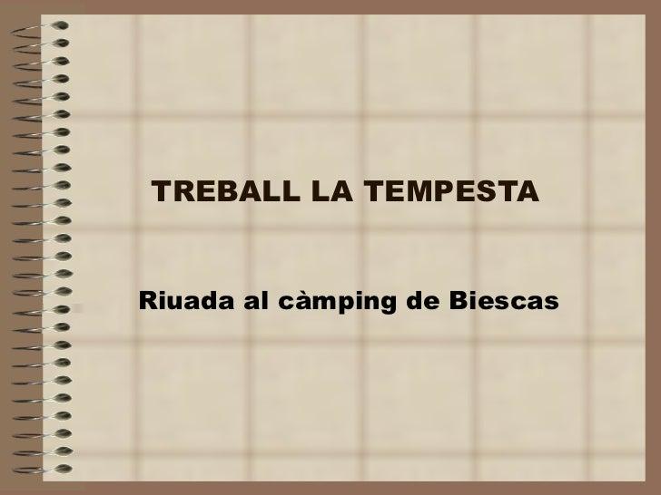 TREBALL LA TEMPESTA Riuada al càmping de Biescas