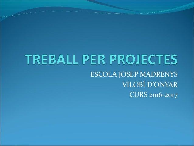 ESCOLA JOSEP MADRENYS VILOBÍ D'ONYAR CURS 2016-2017