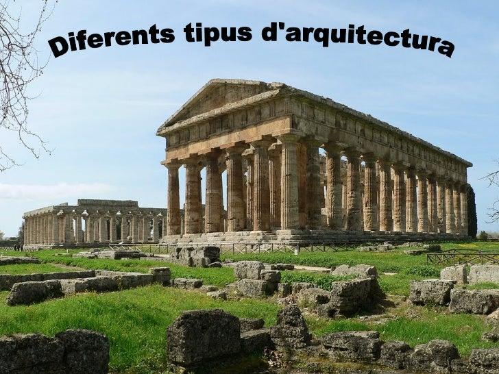 Els grecs no van fer servir l'arc ni la volta, la seva construcció es basava, en la  unió de columnes verticals i bigues, ...
