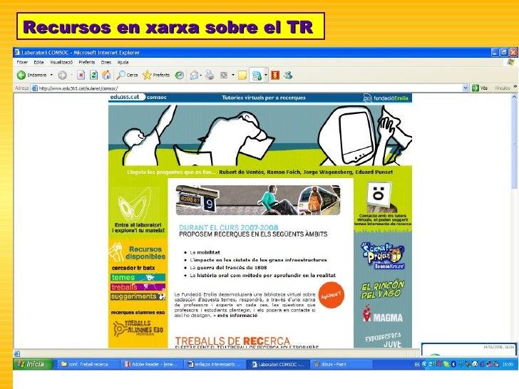 Recursos en xarxa sobre el TR