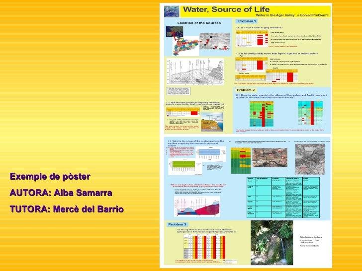 Exemple de pòster AUTORA: Alba Samarra TUTORA: Mercè del Barrio