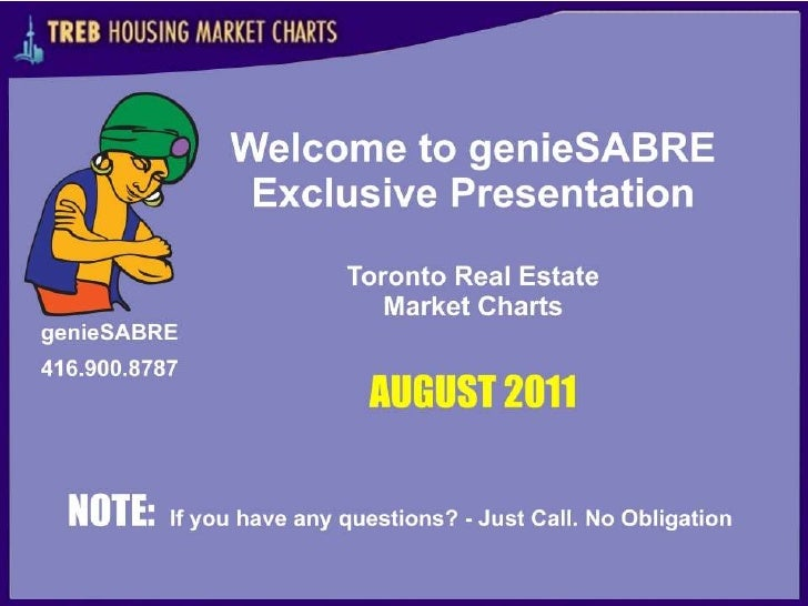 Toronto Real Estate - Market  Aug. 2011