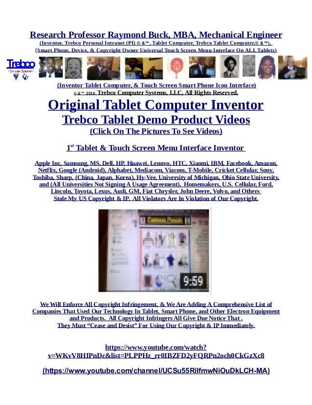 Trebco Tablet By Professor Raymond Buck Trebco tablet trebco tablet hillary clinton chefs4passion. slideshare