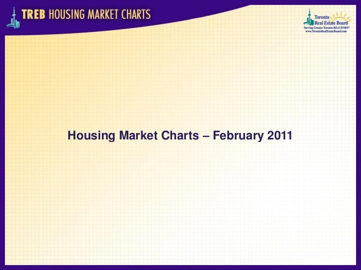 TREB housing market charts February 2011