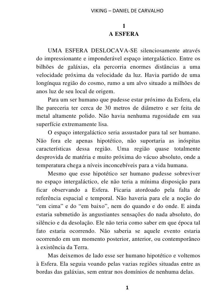 VIKING – DANIEL DE CARVALHO                                 1                             A ESFERA     UMA ESFERA DESLOCAV...