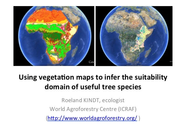 Using vegeta+on maps to infer the suitability            domain of useful tree species            ...