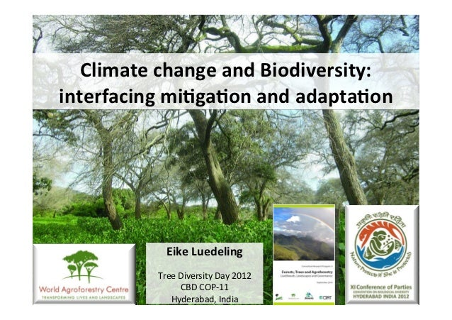 Climate change and Biodiversity: interfacing mi6ga6on and adapta6on                  Eike Luedeling   ...